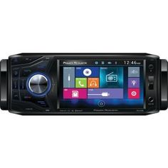 "Power Acoustik 4.5"" Single-din In-dash Oversized & Detachable Lcd Touchscreen Dvd Receiver With Bluetooth"