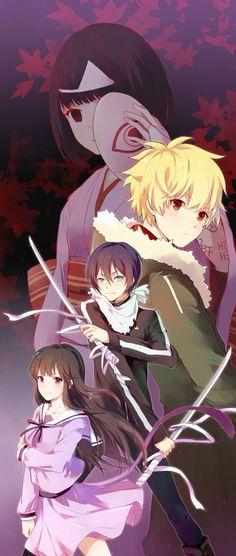Yato,Yukine,Hyiori et Nora