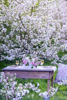 Table amid  the blossoms - from Secret Dreamlife