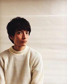 Photoshoot model for men hair style in Omotesando, Tokyo.