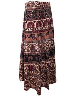 Wrap Skirt- ELEPHANT Print Cotton Brown Indian Maxi Skirts, Gift for Girls Mogul Interior http://www.amazon.com/dp/B00RL5RBEU/ref=cm_sw_r_pi_dp_KwOOub1ADG2R6
