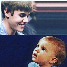Justin Bieber with his cute friend.