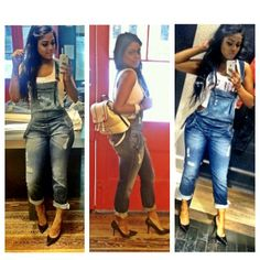 had to end the fit session with a classic Guess Denim look! our classic denim OverAll in Hayes Wash!!