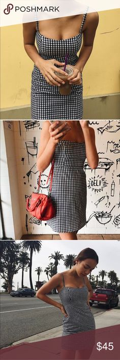 Spotted while shopping on Poshmark: Bnwt brandy Melville gingham print dress! #poshmark #fashion #shopping #style #Brandy Melville #Dresses & Skirts