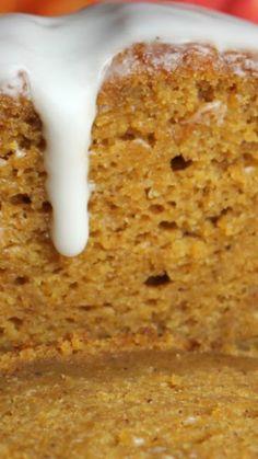 Starbucks Pumpkin Bread Recipe ~ Tastes just like the real Starbucks stuff... Except better cause it has frosting - yum