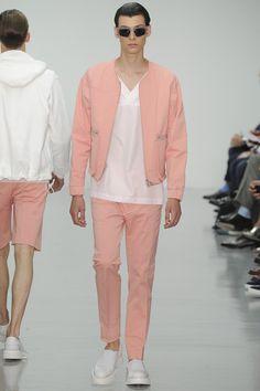 Lou Dalton, spring/summer 2015    Love the shapes. Men's Fashion   Pastel Colors   www.designerclothingfans.com