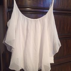 Guess white ruffle body suit Guess white ruffle body suit size Xl Guess Tops