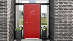 Slik skaper du et flott inngangsparti Sliding Door Track, Sliding Doors, Tall Cabinet Storage, Locker Storage, Art Deco Door, Barn Door Hardware, New Homes, Banner, Tutorials