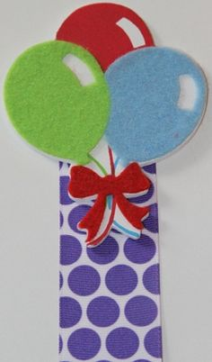 Birthday Balloon Topper Ribbon Bow Holder - ($7.00)