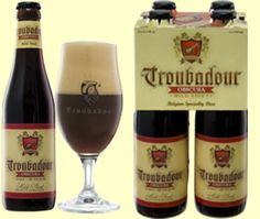 Troubadour Obscura, 8.5% 5/10 Dark beer (Stout). Brewery The musketeers, Ursel, Belgium