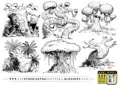 6 really big tree concepts by STUDIOBLINKTWICE.deviantart.com on @deviantART