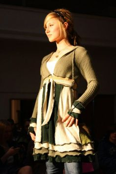 upcycled coats | Upcycled Sweater Coat by Michelle Mandera | Upcycled Clothes