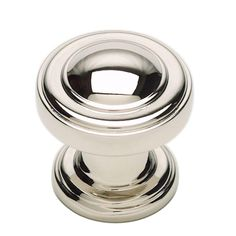 Atlas Homewares Bronte Collection 1-1/8 in. Polished Nickel Round Cabinet Knob-313-PN - The Home Depot
