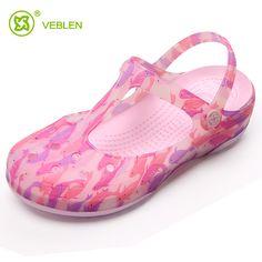 2017 Women Non-slip Holes Sandals Women's Summer Print Wearable Flat Leisure Outdoor Beach Sandals Female Shoes Sandalias Mujer