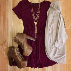 Shop Priceless Reese Dress - Burgundy