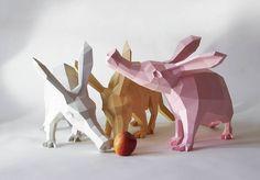 Papercraft Animals Series. PaperWolf whose real name is Wolfram Kampffmeyer
