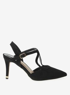 08c5963bf2b Wide Fit Black  Glow  Strappy Court Shoes
