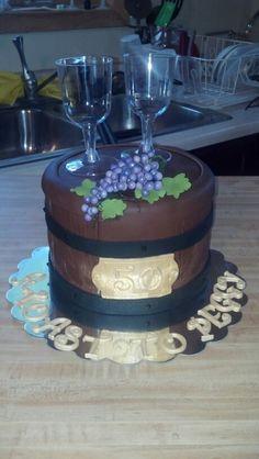 50th Birthday wine barrel cake :-)