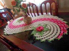 Katia Ribeiro Accessoires: Tapijt Spiral in Haak - Walkthrough Vanessa Marcondes Crochet Metal, Spiral Crochet, Crochet Ripple, Rainbow Crochet, Crochet Cross, Thread Crochet, Knit Or Crochet, Crochet Kitchen, Crochet Home