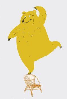 Cute illustration of a bear Illustration Mignonne, Children's Book Illustration, Character Illustration, Art D'ours, Bear Art, Illustrations And Posters, Animal Illustrations, Art Graphique, Grafik Design