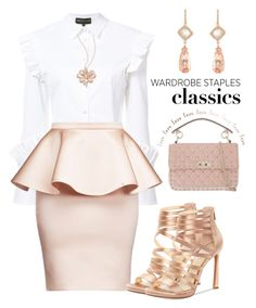 """#wardrobestaples"" by liligwada ❤ liked on Polyvore featuring Christian Siriano, Jessica Simpson, NSR Nina Runsdorf, Valentino and Effy Jewelry"