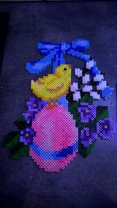 Pearler Bead Patterns, Perler Patterns, Pearl Crafts, Beaded Banners, Peler Beads, Melting Beads, Bead Art, Easter Crafts, Beading Patterns