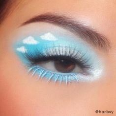 Blue Eyeshadow Makeup, Eye Makeup Art, Pastel Eyeshadow, Pretty Eye Makeup, Eyeshadow Ideas, Fun Makeup, Makeup Inspo, Makeup Ideas, Blue Eyeshadow Looks