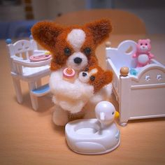 Papillon Puppy , Needle Felting - @momos_gallery- #webstagram