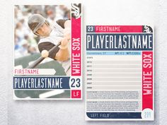 Modern update on the baseball card layout by the talented Brandon Moore.