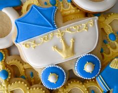 Little Prince Baby Shower Cookies .Oh Sugar Events