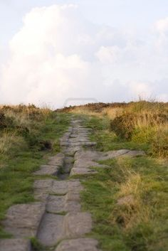 Roman Road on Harden Moor, West Yorkshire, cart-horse tracks clearly visible