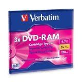 Verbatim Type 4 DVD-RAM Cartridge 4.7GB 3x