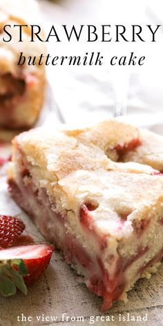 strawberry desserts My Strawberry Buttermilk Cake is the perfect strawberry dessert to welcome in spring. Its an easy coffee cake loaded with fresh strawberries ~ make it for breakfast, brunch, or dessert! Homemade Strawberry Cake, Strawberry Dessert Recipes, Strawberry Cakes, Recipes For Fresh Strawberries, Strawberry Bread, Strawberry Buttermilk Cake Recipe, Buttermilk Dessert Recipes, Strawberry Cream Pies, Strawberry Brownies