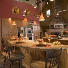 Spacious kitchen with gorgeous breakfast bar