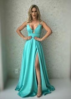 Sexy Long V-neck Leg Split Prom Dresses 2018 Floor Length Bridesmaid Dresses · SexyPromDress · Online Store Powered by Storenvy Split Prom Dresses, Straps Prom Dresses, Prom Dresses 2018, Junior Bridesmaid Dresses, Spaghetti Strap Dresses, Girls Dresses, Spaghetti Straps, Party Dresses, Slit Dress