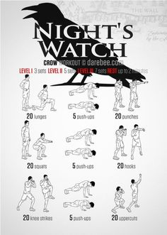Night's Watch Workout - When you are all that stands between the Seven Kingd. - Perfect İdeas For Doing Exercise Nerd Fitness, Sport Fitness, Fitness Tips, Fitness Motivation, Fitness Fun, Workout Fitness, Hero Workouts, Gym Workouts, At Home Workouts