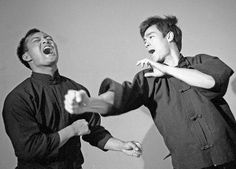 Bruce Lee and Dan Inosanto Instructions On Self Defense. Dynamic speed and power of the back fist.