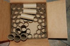 Lot of 40 Clean Empty Toilet Paper Tubes Cardboard Roll Bathroom Tissue TP Cores