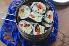 vegan sushi in Boho Tiffin