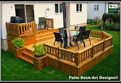 20 Insanely Cool Multi Level Deck Ideas For Your Home! 2019 Best Multi Level Deck Design Ideas For Your Home! The post 20 Insanely Cool Multi Level Deck Ideas For Your Home! 2019 appeared first on Deck ideas. Backyard Patio Designs, Backyard Landscaping, Patio Plan, Tiered Deck, Casas Containers, Diy Deck, Wooden Decks, Decks And Porches, Building A Deck