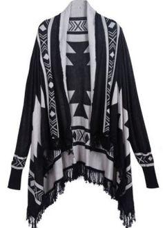 2013-New-Autumn-Fashion-Womens-Casual-Cardigan-Stylish-Cool-Black-Long-Sleeve-Diamond-Patterned-Tassel-Sweater