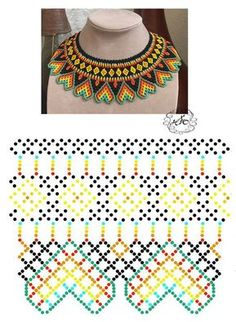 seed bead necklace patterns for beginners Diy Necklace Patterns, Seed Bead Patterns, Beaded Bracelet Patterns, Beading Patterns, Seed Bead Bracelets Tutorials, Beaded Bracelets Tutorial, Beading Tutorials, Bead Jewellery, Jewelry Making Beads