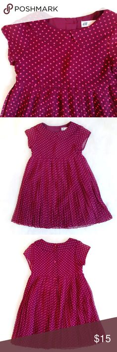 🦋H&M GIRLS 7-8 POLKA DOT DRESS🦋 🦋H&M GIRLS 7-8Y POLKA DOT DRESS🦋. EXCELLENT CONDITION. H&M Dresses