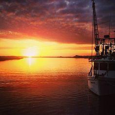 #Sunrise at Thunderbolt Marina in #Savannah, #Georgia.