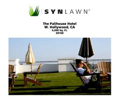 The Palihouse Hotel in W. Hollywood, CA is making great use of their previously unusable rooftop, thanks to SYNLawn.