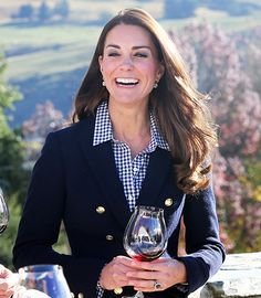 Credit: Catherine Duchess of Cambridge and Prince William, Duke of Cambridge sample red wine as the visit Otago Wines at Amisfield winery on...