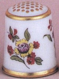 Royal Crown Derby Thimbles 1752- The Flower Sprig