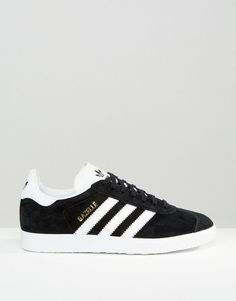 Image 2 - adidas Originals - Gazelle - Baskets en daim - Noir