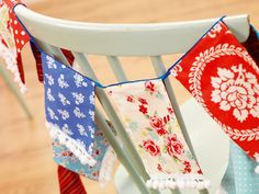 Simple Jubilee-inspired Fabric Bunting
