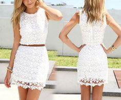 Slim package hip lace vest dress #HG102313